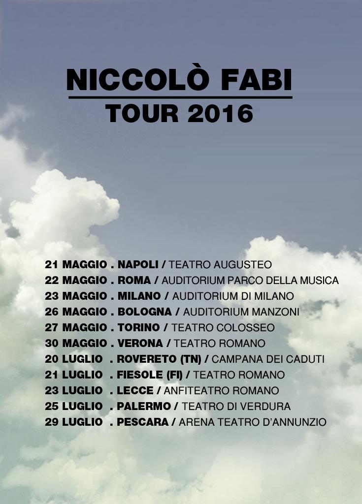 Niccolò Fabi Tour 2016